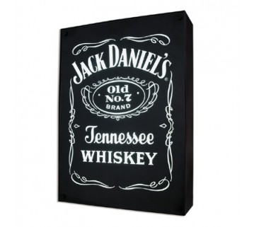 Jack Daniel'S Pool Room Light Box 50Cm Hx25Wx 9D